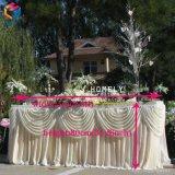 Hotel-runde dekorative Bankett-Partei-Satin-Polyesterspandex-Tisch-Fußleiste
