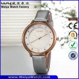 De Polshorloges van de Dames van het Kwarts van het Horloge van de Riem van het Leer van de manier (wy-052D)