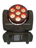 7*12W Osram 4in1 LEDのビームおよび洗浄移動ヘッドライト