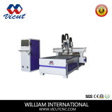 CNC Scherpe Machine met Mes van de Boor van de As het Hoofd en Oscillerende en CCD