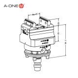 Pequeña Fresadora ajustable precisión tornillo de banco para el Centro CNC 3A-110036