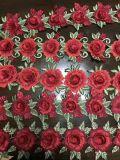 최신 판매 장식적인 다색 3D 꽃 레이스 손질