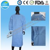 Nichtgewebtes Lokalisierungs-Wegwerfkleid/verstärktes chirurgisches Kleid mit gestrickter Stulpe