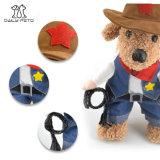 Vêtement occidental de costume d'animal familier de cowboy pour des crabots et des chats