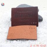 Частный Дизайн пользовательских моды фирменного логотипа компании PU наклейки из натуральной кожи