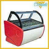 상업적인 아이스크림 냉장고 전시 진열장 전기 아이스크림 전시 냉장고 자유로운 서 있는 아이스크림 전시