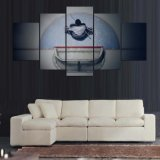 El arte de la pared representa gota de la lona de las impresiones de HD el expidir de 5 pedazos del hockey sobre hielo de los carteles de la sala de estar del hogar de la decoración del marco del movimiento