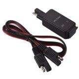 Il SAE all'adattatore del cavo del USB con il voltmetro blu 4.2A si raddoppia caricatore del USB per il motociclo per il ridurre in pani astuto GPS del telefono