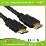 4K barato 2.0 1.4 cabo 1m do chapeamento de ouro HDMI