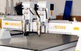 Roteador de madeira 3D máquina CNC com 2 fusos