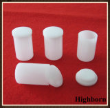 Verkaufender milchiger weißer zylinderförmiger Quarz-Spitzentiegel mit Kappe