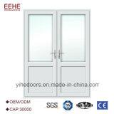 La moitié de la porte en verre inserts de verre porte de cuisine en aluminium