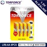 Ce/ISO 8PCS (LR6-AAのサイズ)の1.5volt一次乾燥したアルカリ電池