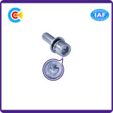 Aço de carbono de DIN/ANSI/BS/JIS/cabeça sextavada Stainless-Steel com os parafusos da combinação da almofada