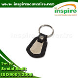 Trousseau de clés en cuir avec le logo personnalisé pour le trousseau de clés promotionnel