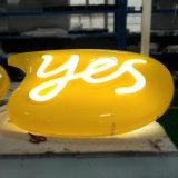 Heller acrylsauerkasten des Firmenzeichen-Zeichen-LED