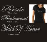 Hot Fix Esposa Rhinestone Design de transferência para o vestuário