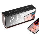 De nieuwe Wekker Spreker Bluetooth van het Metaal van 10 Watts de Draagbare Draadloze van de Aankomst Mini met LEIDEN van de Aanraking van de Spiegel Licht