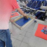 의복을%s 반 자동 회전하는 스크린 인쇄 기계 기계