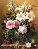 Öl-Anstrich-Klassische Blume