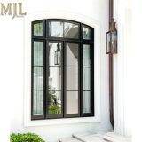Новый черный дизайн поверхности алюминиевых оболочка деревянные окна