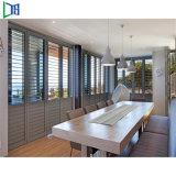 Nouveau style de fenêtre en verre de plein air en aluminium d'aération de l'obturateur du panneau de l'écran