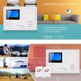 Obbligazione domestica senza fili del sistema di allarme di GSM con il sensore dell'allarme di PIR/Door