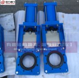 Pneumatisches Slurry Knife Gate Valve mit Blue Color