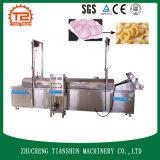 Spuntino di frittura automatico della macchina che frigge frittura degli anelli di cipolla della macchina