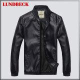 人の余暇の衣服のための最もよい販売法の冬PUのジャケット