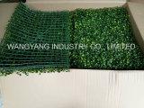 Strato di plastica sintetico falso artificiale dell'erba del Boxwood
