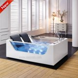 White quadrato Acrylic Water Massage Soaking Bathtub per Adults (SF5B003)