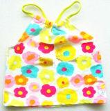 Swimwear с печатью цветка для тельняшки конструкции Girls+Soft Swimsuit+Kids милой (XMF-b33)