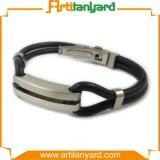 Bracelet fait sur commande de silicones en métal de mode
