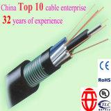 96 câbles de fibre optique extérieurs sous le plomb