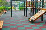 Gummibodenbelag-Fliese, im Freienspielplatz-Gummifliesen, Gummigymnastik-Fußboden-Fliesen