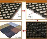 Водоустойчивые плитки пола WPC DIY, Non-Slip блокируя плитки пола, WPC блокируя палубу пластичного основания