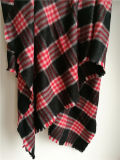 Cashmere Brushed Square Plaid Shawl for Winter Xc09027