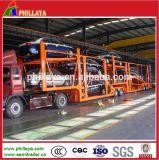 2 Aanhangwagen van de Auto-carrier van assen de Skeletachtige/De Aanhangwagen van het Vervoer van de Auto