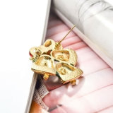 Tinir Gold-Tone Bell do Natal com os Brooches feitos sob encomenda da forma do Rhinestone