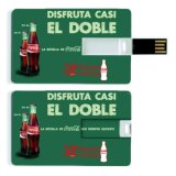 Movimentação plástica do flash do USB do cartão de crédito da impressão de cor cheia