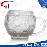 tazza di caffè di vetro di vendita 290ml di figura calda di gioco del calcio (CHM8174)
