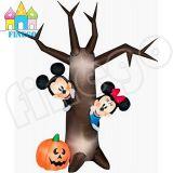 Aufblasbarer Halloween-heller Kürbis-Torbogen-toter Baum