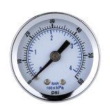 """0-60 манометр 1/8 """" манометр Psi гидровлический Диагностическ-Инструмента давления круговой шкалы держателя 1.5 задней части компрессора воздуха NPT """" точный"""