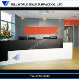 사무실 테이블 가구를 위한 유럽 유행 백색 수신 카운터