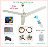 Ventilatore di soffitto solare ad alta velocità di CC