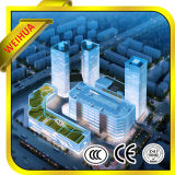 Glace creuse économiseuse d'énergie de fournisseur chinois/double glace et glace isolée