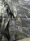 Folha de lonas de PE com acabamento em preto, Poli Tarp Truck cobrir, PE Tarp