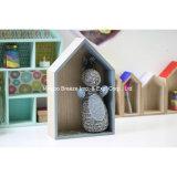 Natürliche kleines Haus-Form-hölzernes Speicher-Bildschirmanzeige-Regal