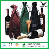Изготовленный на заказ напечатанный логосом мешок вина бархата Drawstring